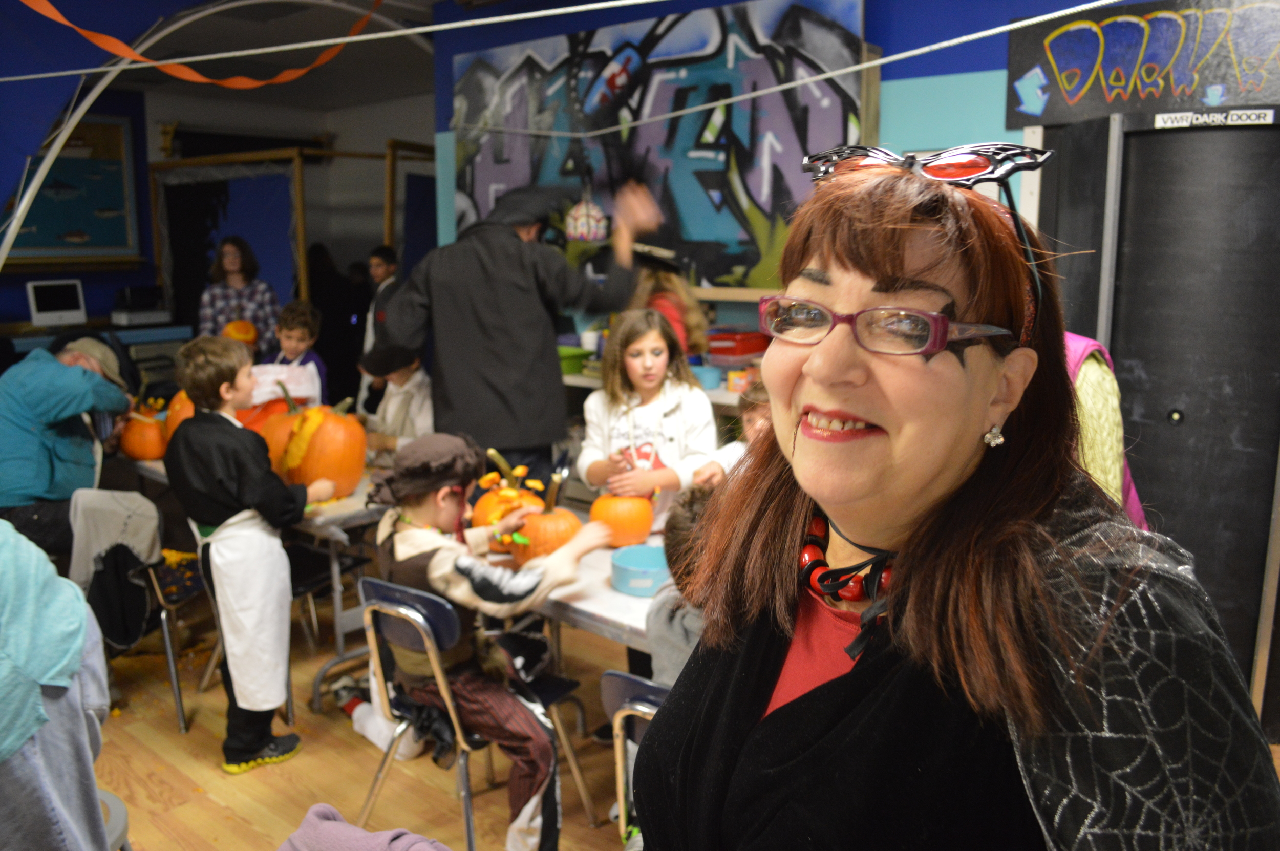 Donna, our office manager, loves the Halloween season!