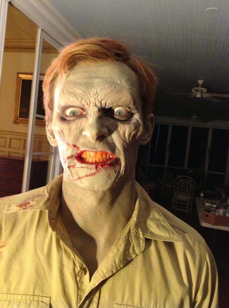 "Zombie, ""Flytrap"" short film  foam latex prosthetic, liquid latex"