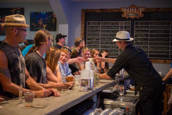 NOLA Brewing Tap Room.