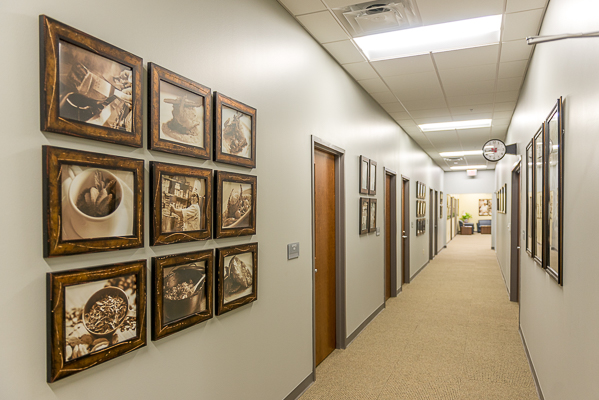 The offices of the chefs is decorated with photos I took during past classes.