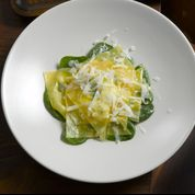 Burrata Ravioli with Browned Butter and Orange Sage