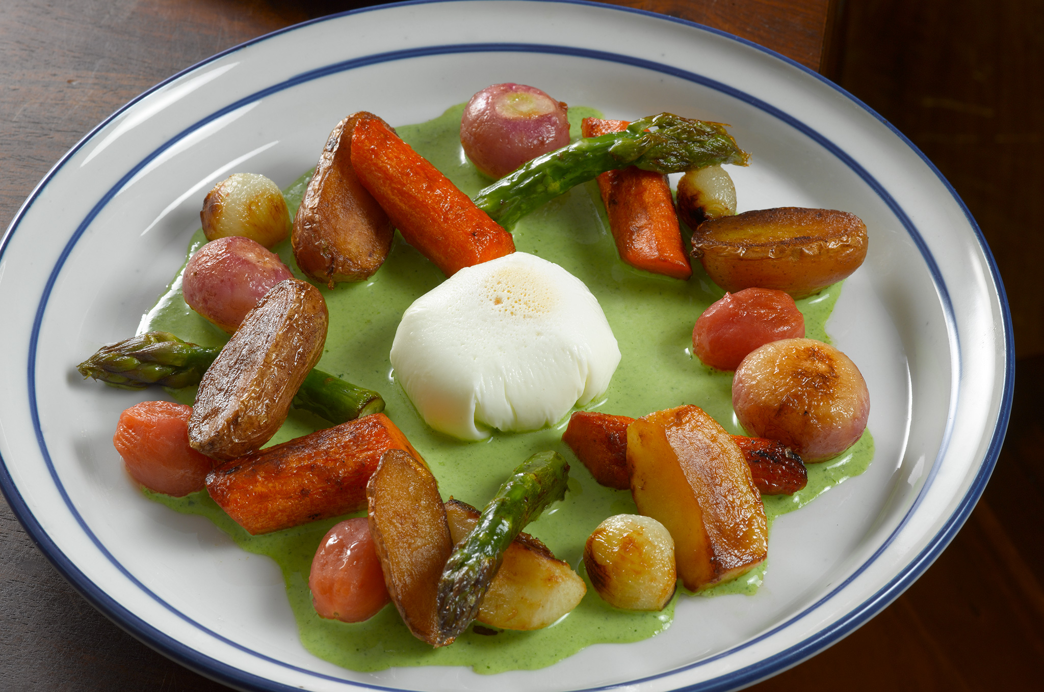 Vegetable Fricassée with Poached Egg