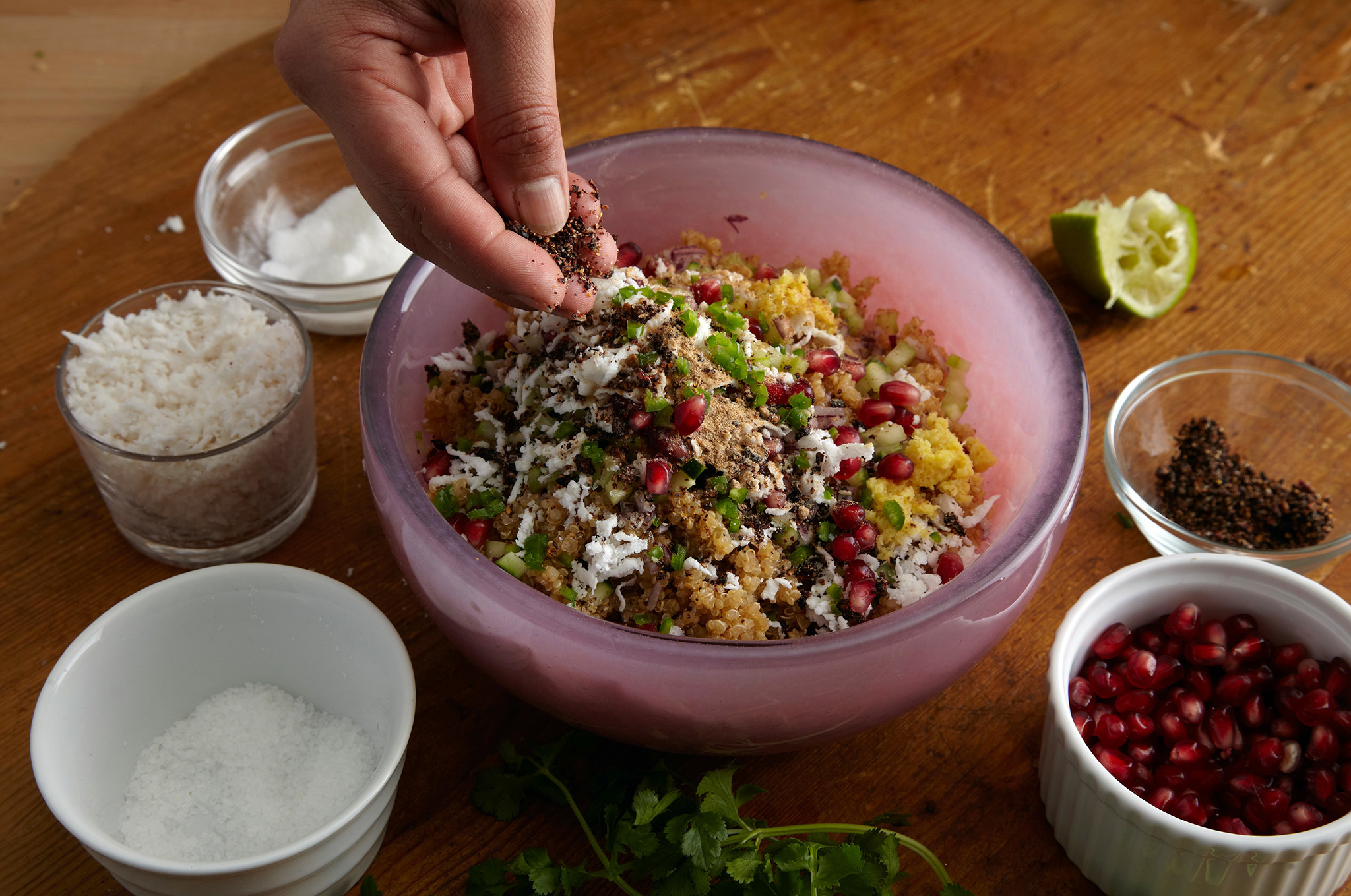 Pomegranate Quinoa Chaat