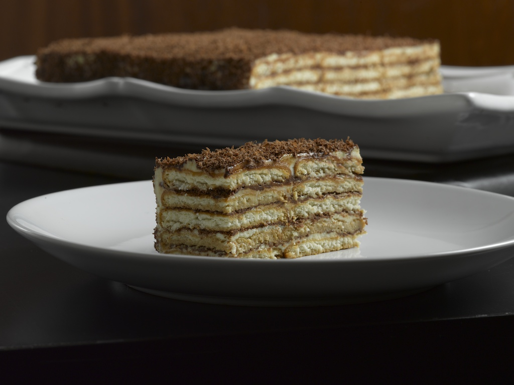Gateau de Galette  : A comforting combination of buttercream, coffee, chocolate, and rum.