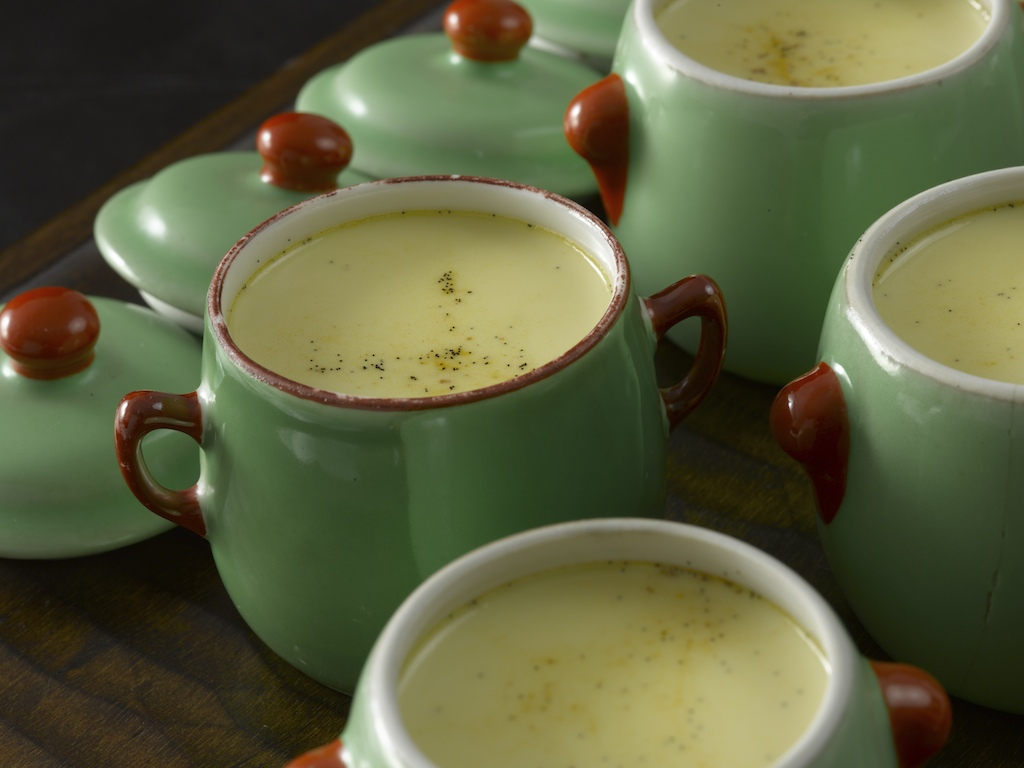 Vanilla & Rum Pots du Creme   : Creamy and soft custard dessert with a subtle punch of dark rum.
