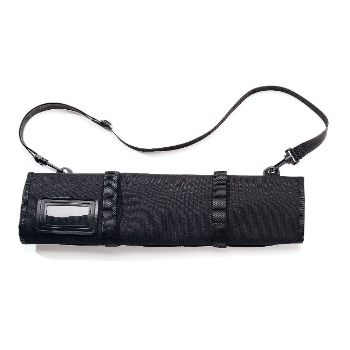 Knife Roll, $46  . You might have spent a small fortune on your blades so get them places safely.