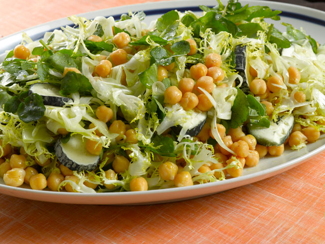 Chickpea and Fennel Salad with Goat Cheese