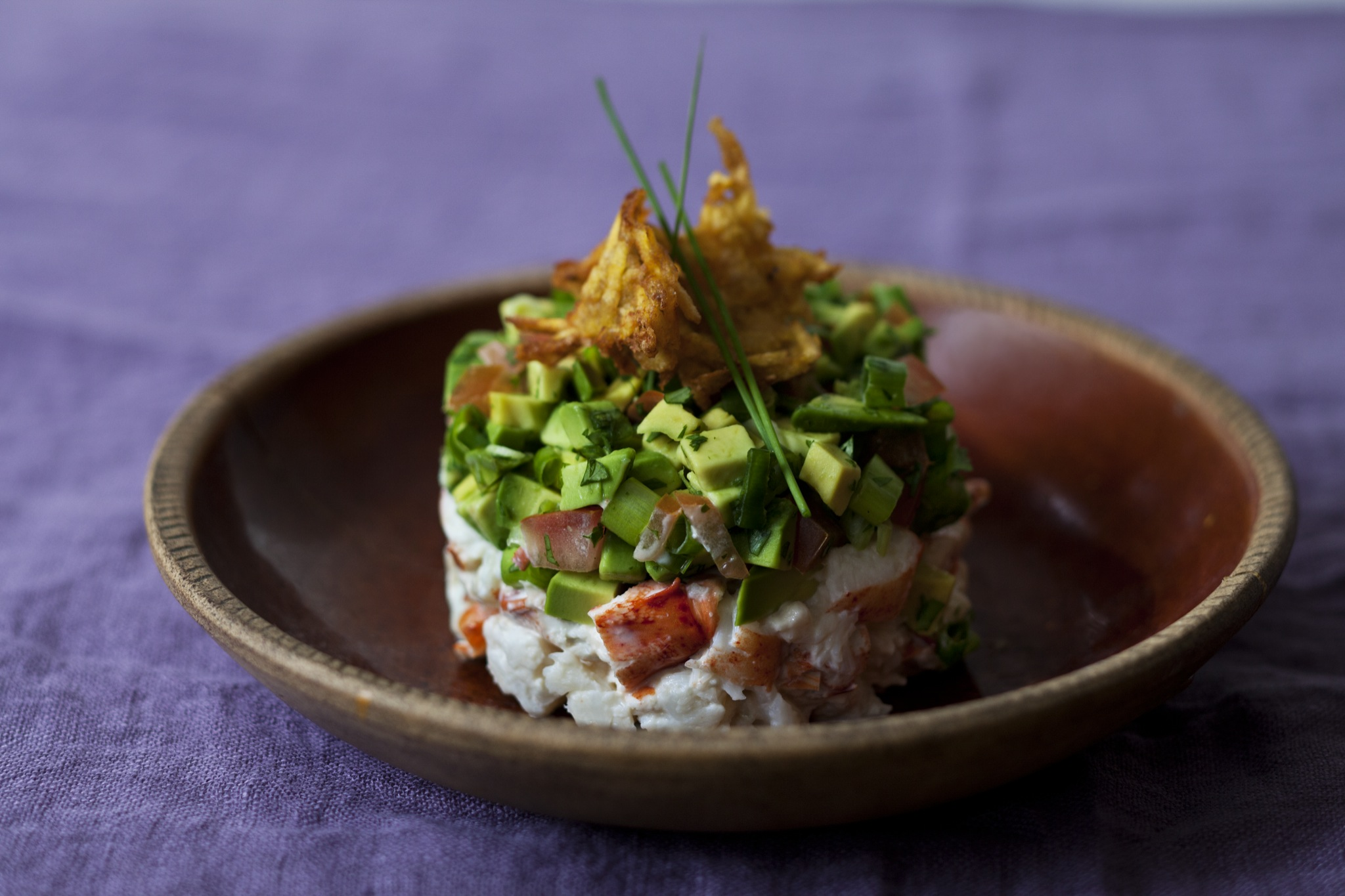 Lobster and Avocado Terrine with Aranitas