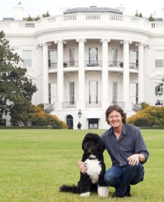 Quentin and friend on assignment in Washington, D.C.