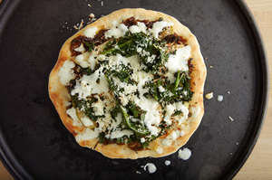 Kale and Curried Apple Naan