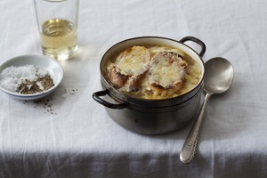 French Onion Soup with Roasted Bone Marrow