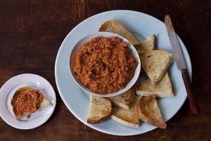 Muhammara (Spicy Red Pepper and Walnut Puree)
