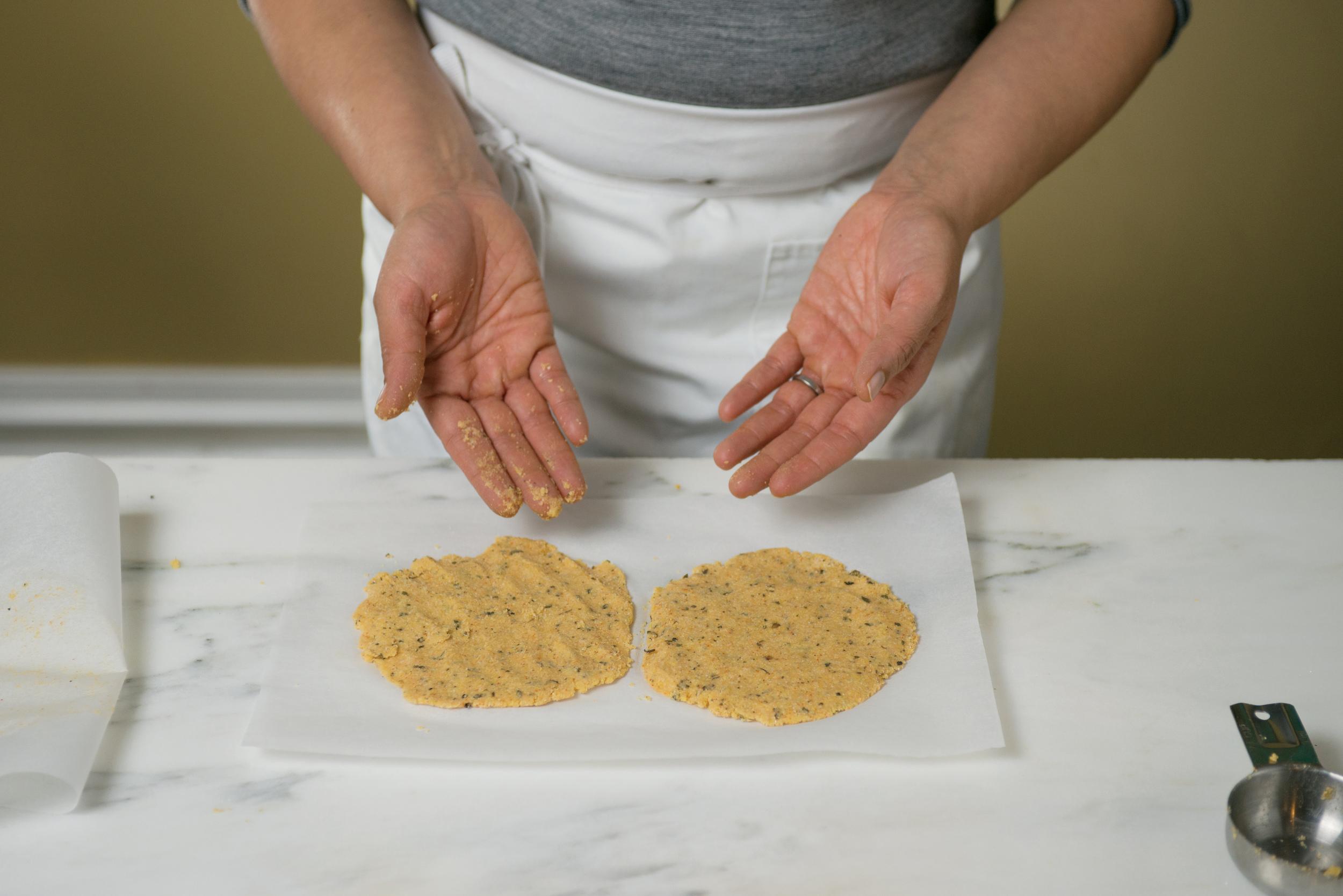 Making Indian Cornbread