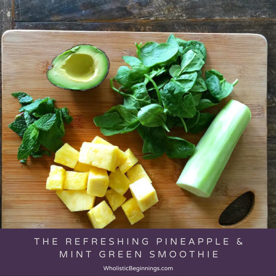 Refreshing Pineapple & Mint Green Smoothie