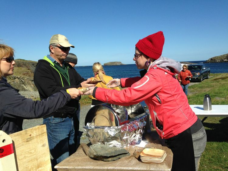 The 'Food Hike' event at the Roots, Rants, and Roars Festival in Elliston, Newfoundland