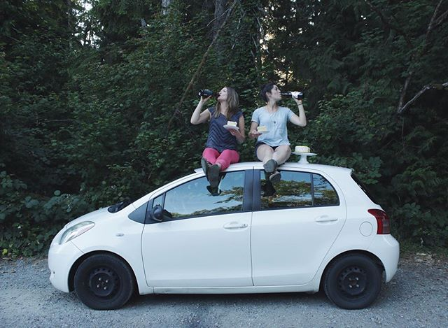 Cheers to road trips, to adventures, to memories made and most importantly to no more driving… (for now!) In this photo, we celebrated the 5-month road trip with our Toyota Yaris. We couldn't imagine what this trip would have been like without such a reliable vehicle; it kept up with the abuse we dealt it all through Alberta, Saskatchewan, Manitoba and the rest of Canada! Toyota has continued to show that their vehicles are more that just metal and tires—they're a part of your road trip team. Thank you for following along as we shared our Prairie Toyota stories. Continue to share yours by using #MyPrairieToyota and tell your Toyota story or memory for a chance to win a $500 Parts & Service Gift Card. @PrairieToyotaDealers