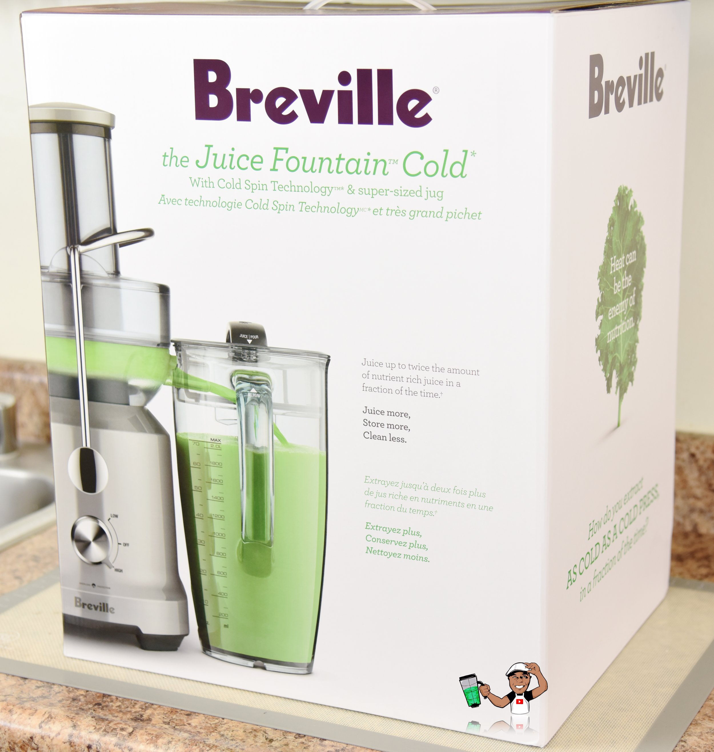 OPENED BOX Breville BJE430SIL The Juice Fountain Cold