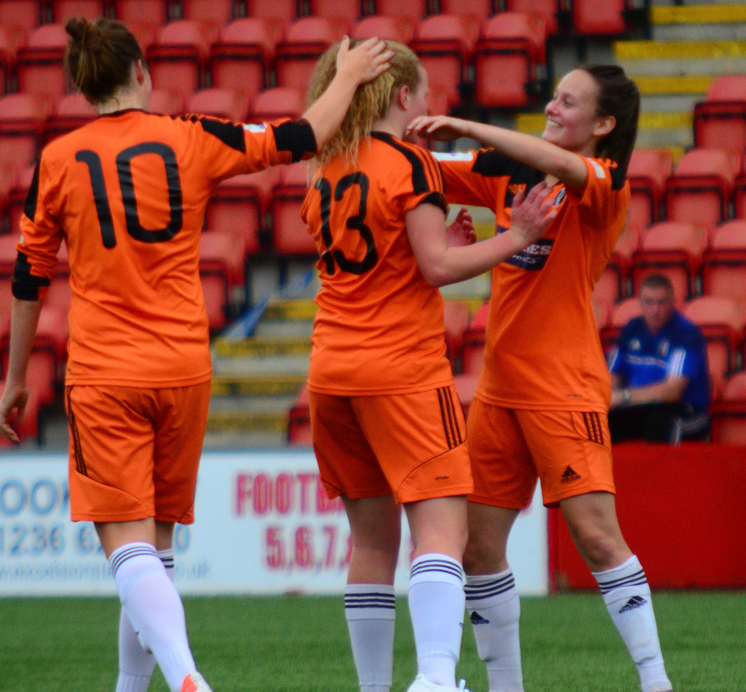 Courtney Whyte & Abbi Grant Celebrate. Image by Graeme Berry