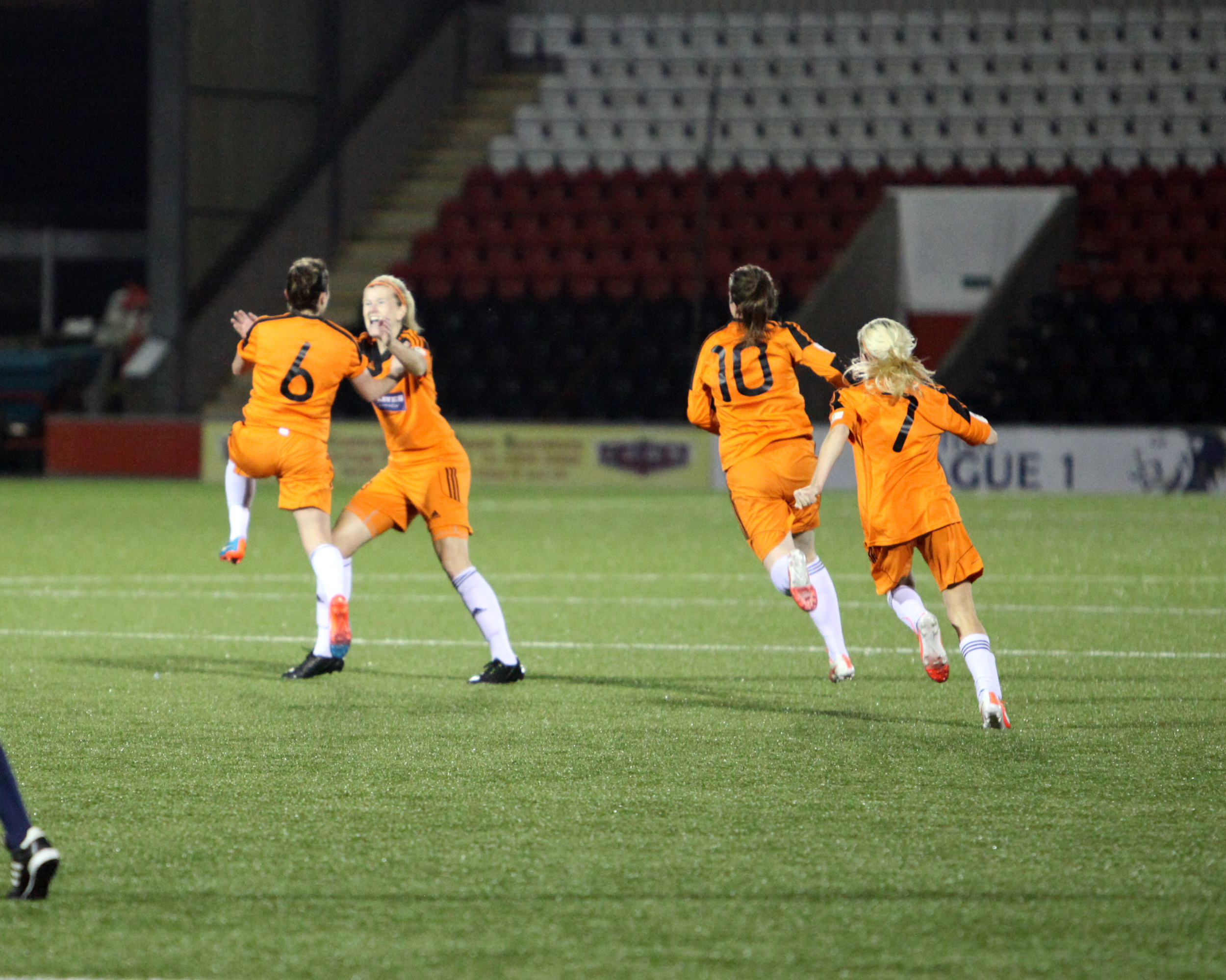 Jo Love grabs City's first goal of the night. Image by Andy Buist.