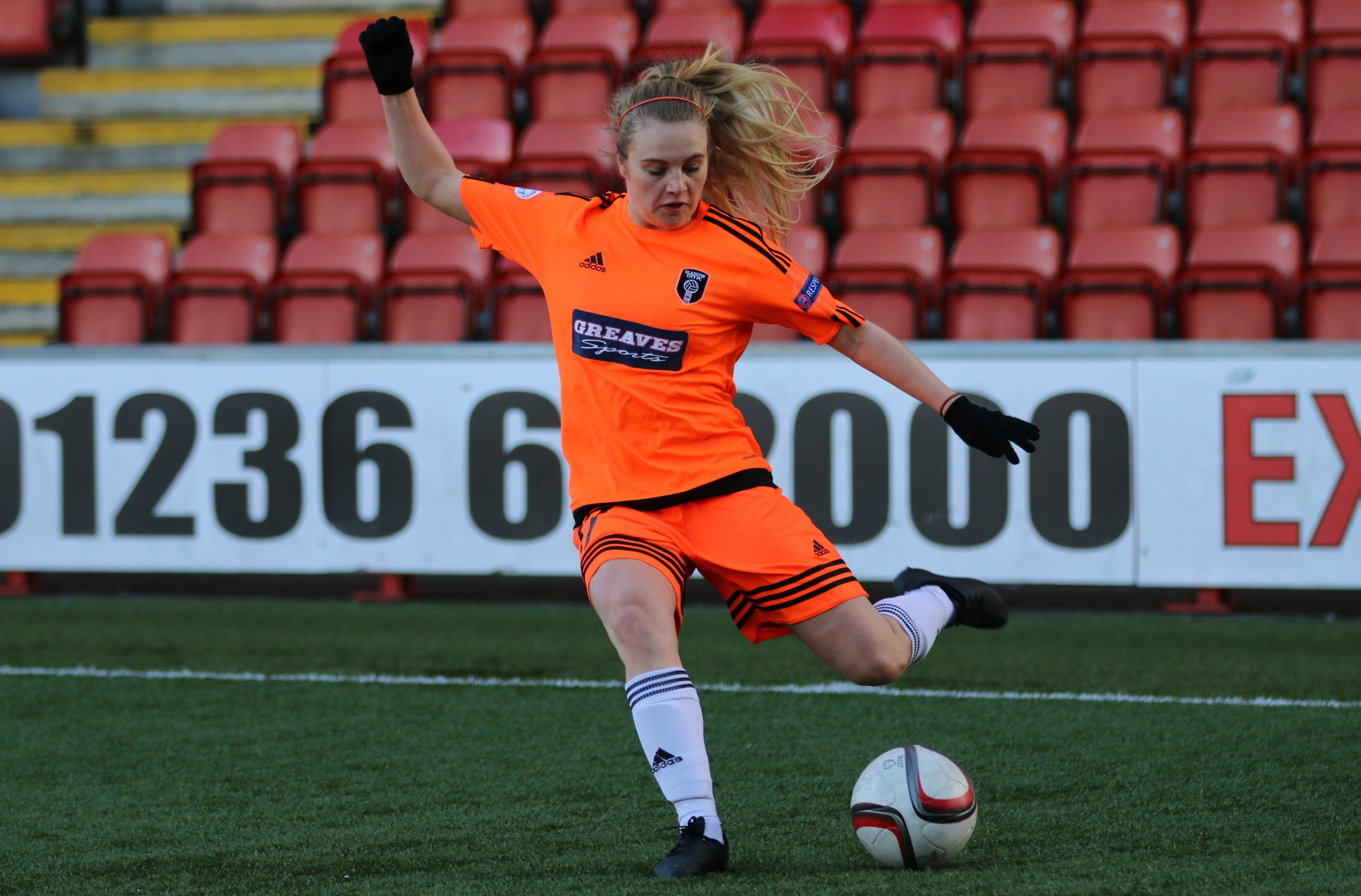 Fiona Brown in action.