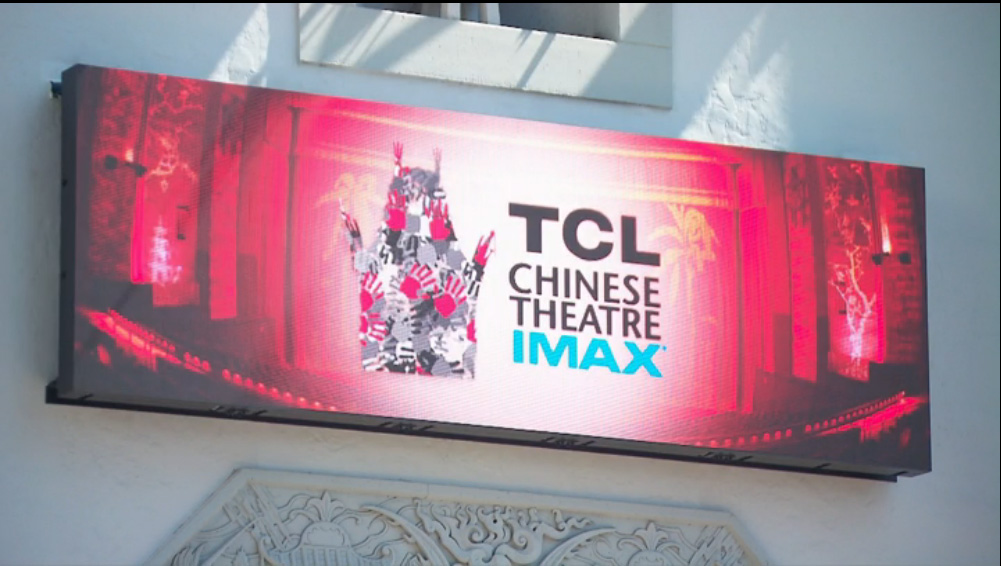 8mm FS Series at the TCL Chinese Theatre on Hollywood Blvd