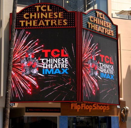 8mm FS series at the main entrance of the TCL Chinese Theatre
