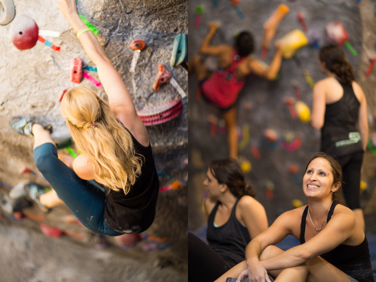 rock climbing bouldering women