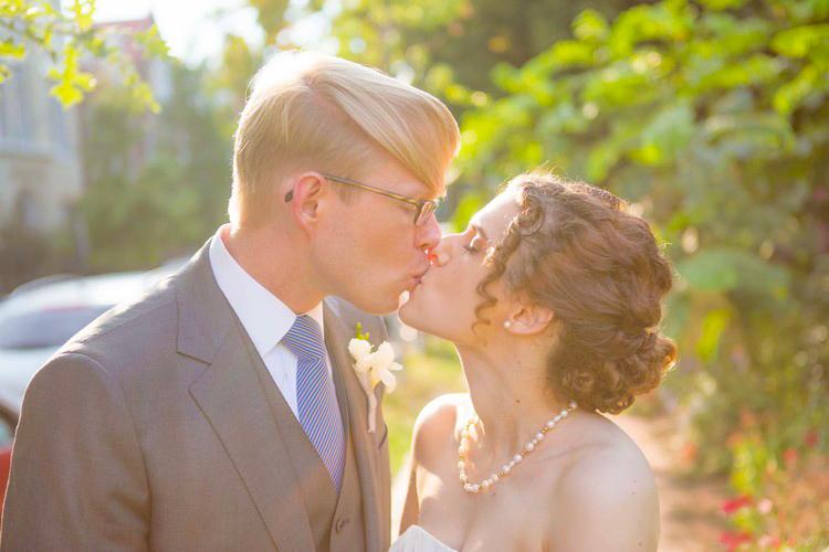 sunset wedding kiss DC wedding photographer