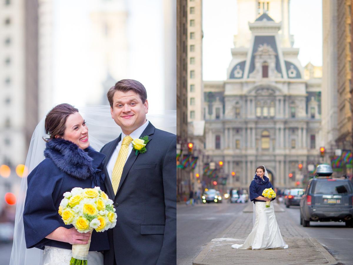 city hall wedding photo philadelphia