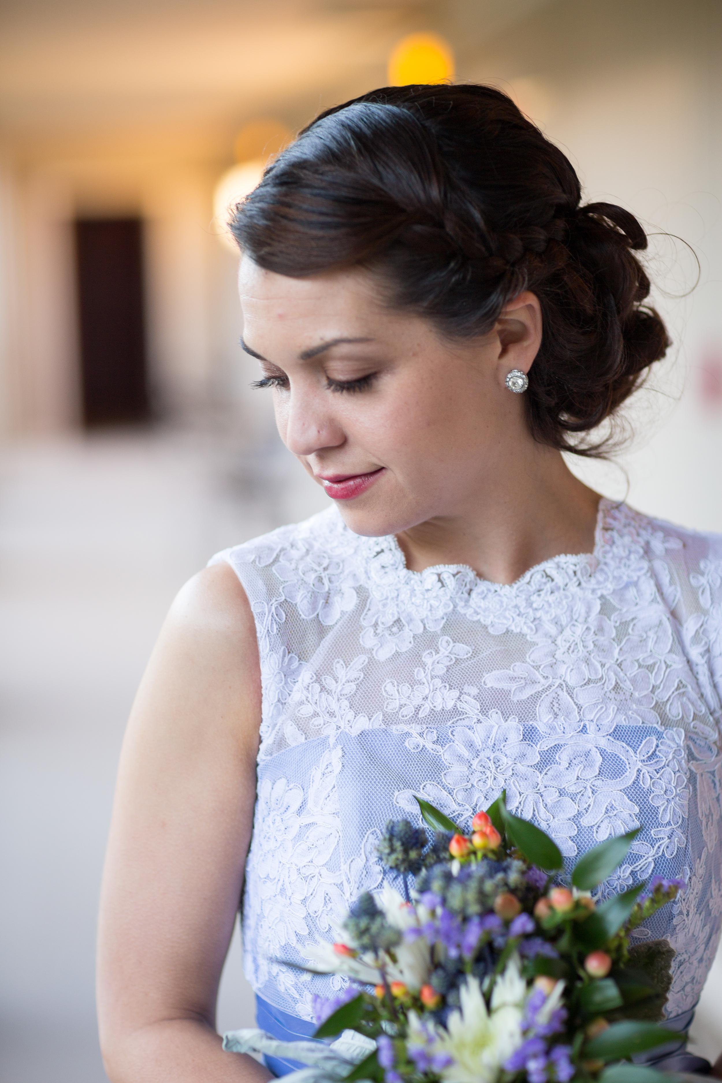 periwinkle bridesmaid