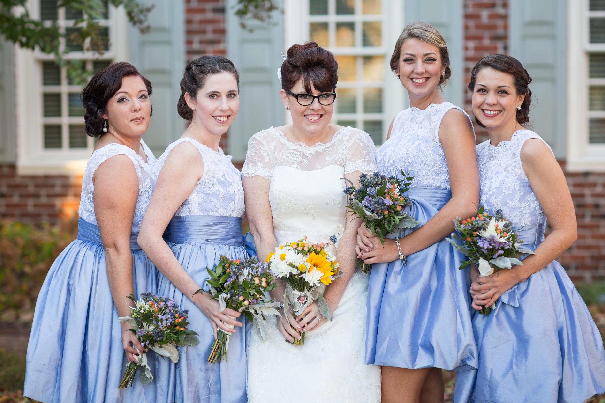vintage periwinkle bridal party