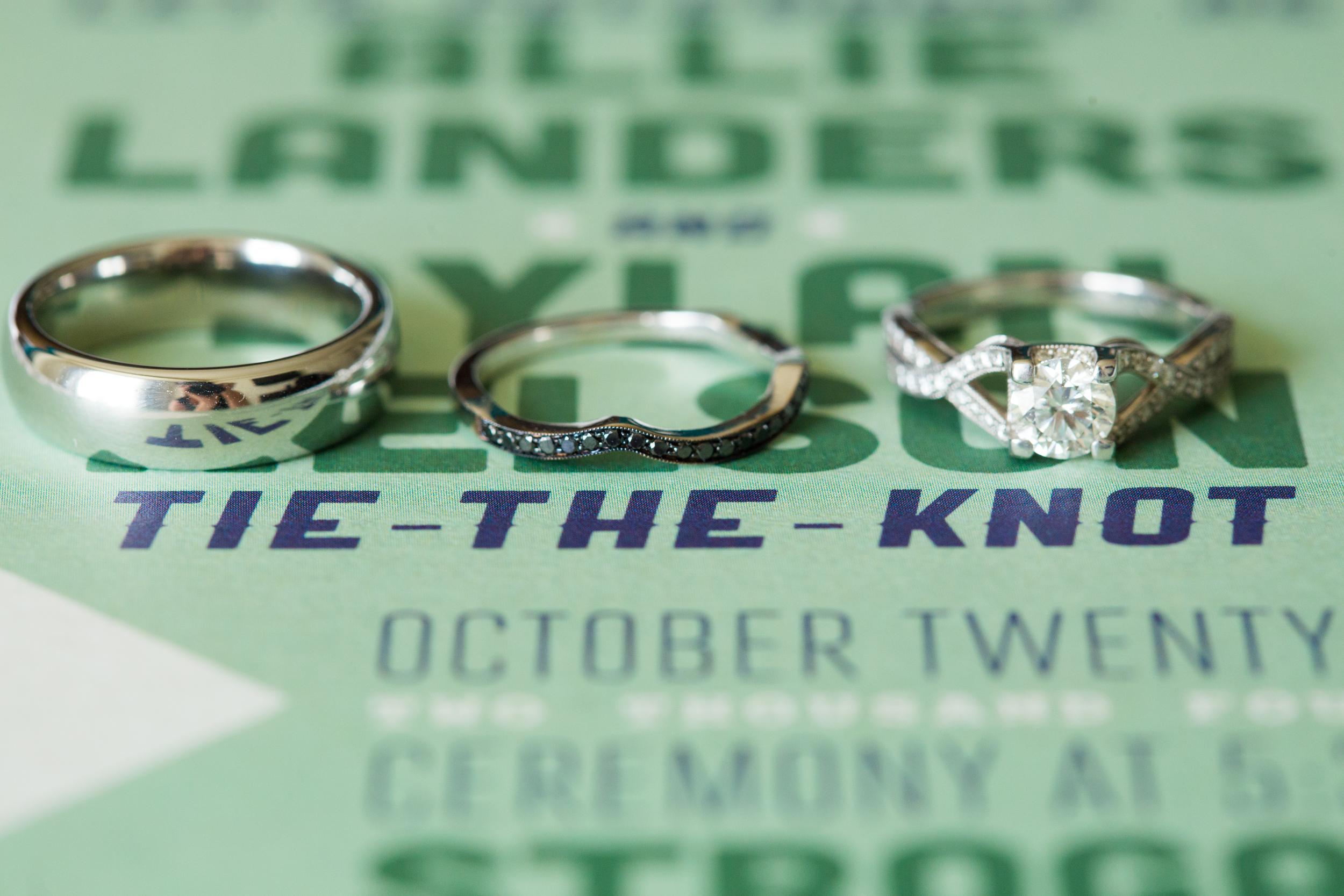 rings invitation detail wedding