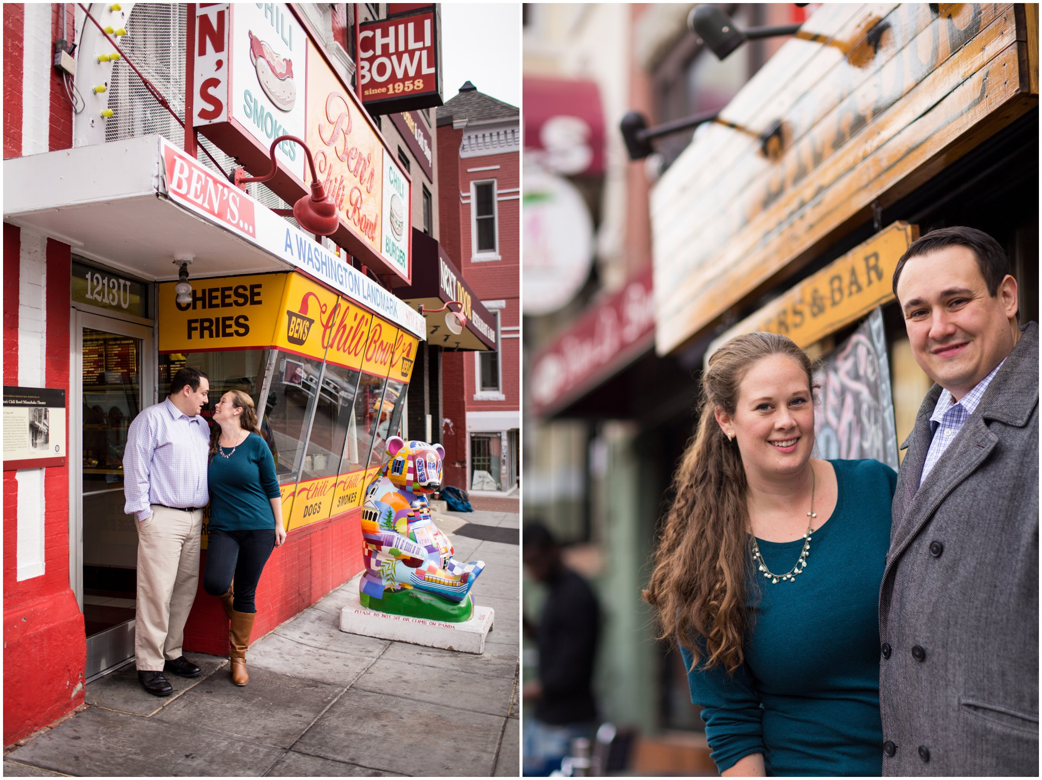 Bens Chili Bowl engagement session DC