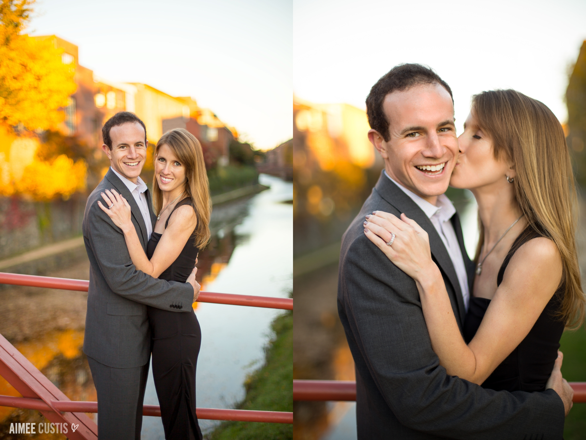 fall engagement C&O canal Georgetown