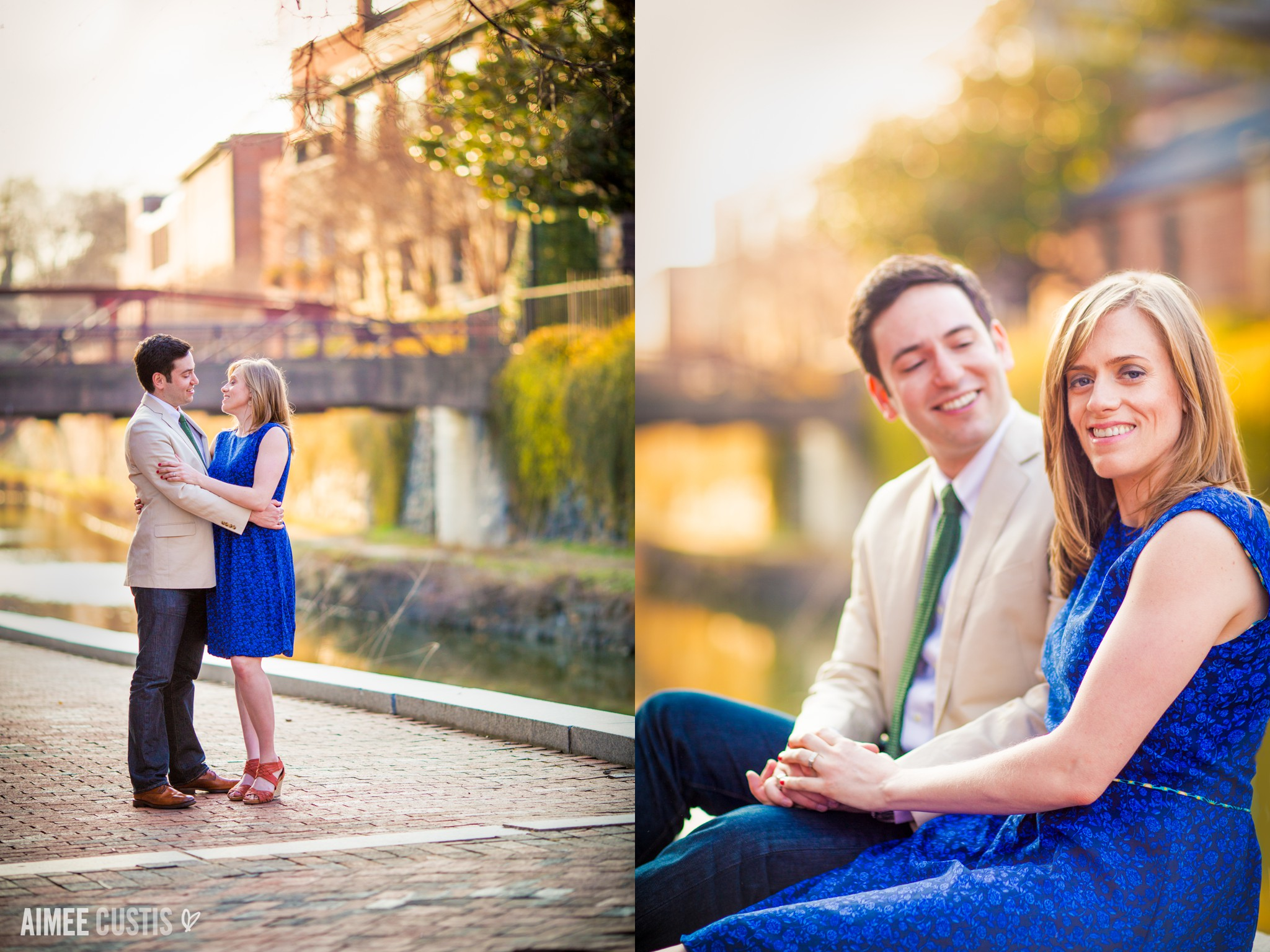 Georgetown canal engagement session