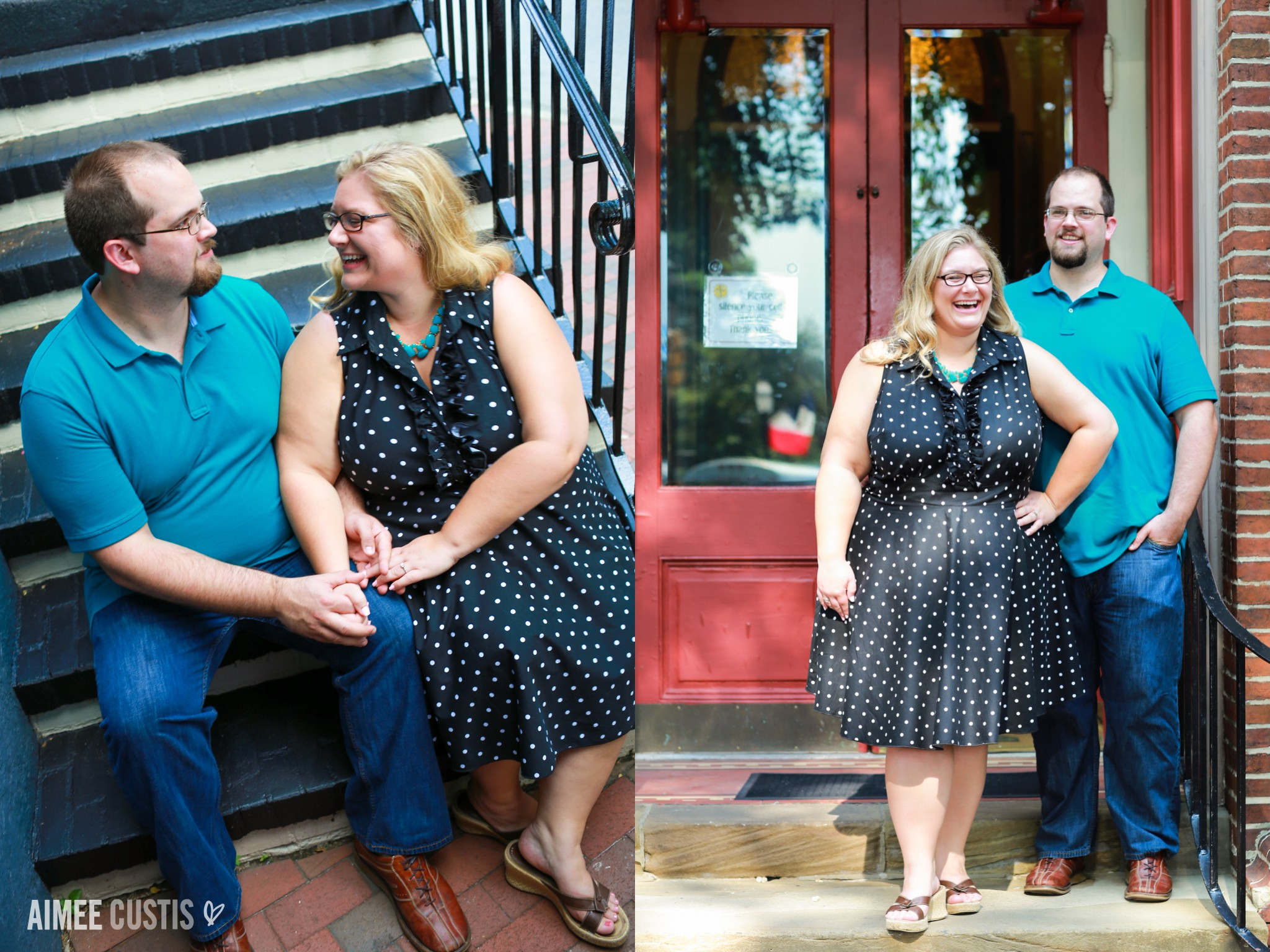 Annapolis Church Circle engagement photography