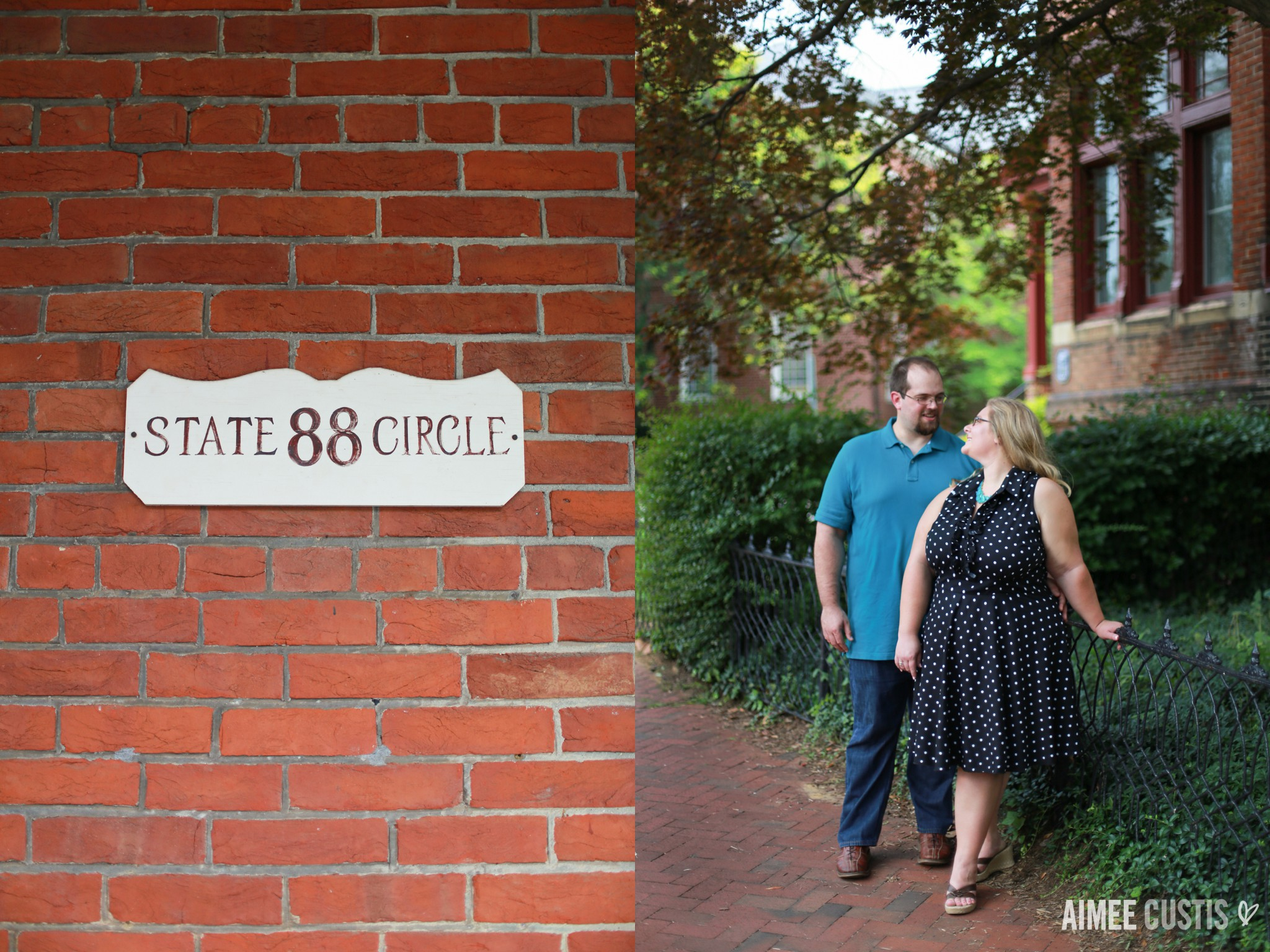 Annapolis State Circle engagement session