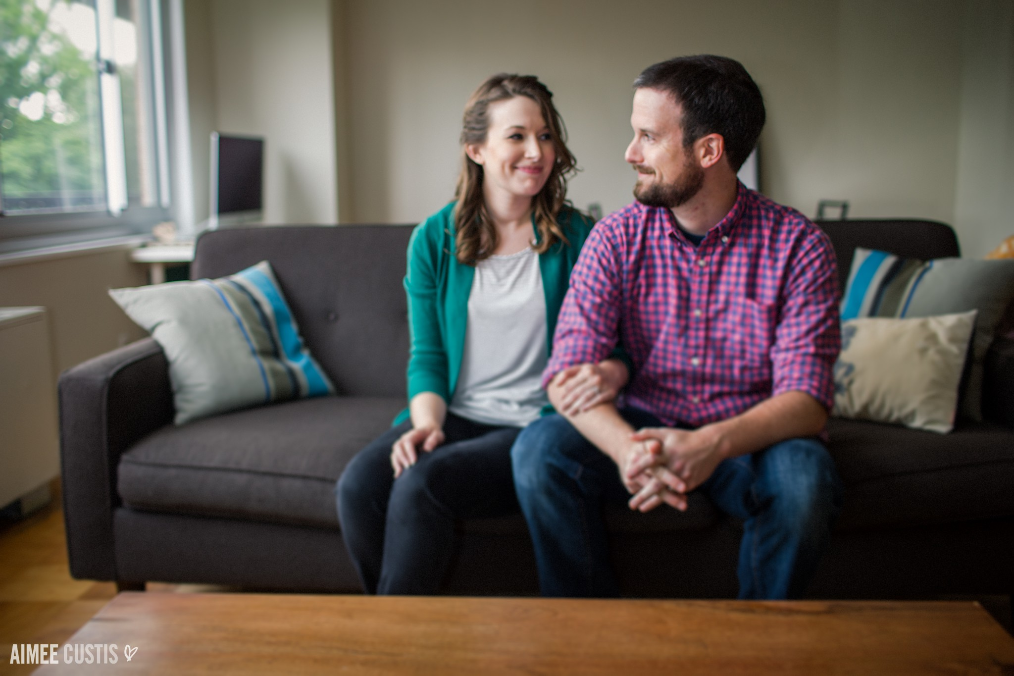 Silver Spring at home engagement photography