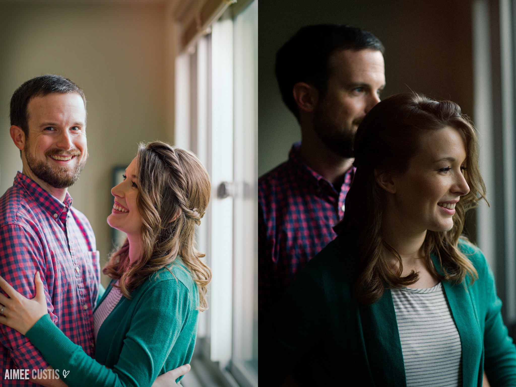 Silver Spring Maryland at home engagement session
