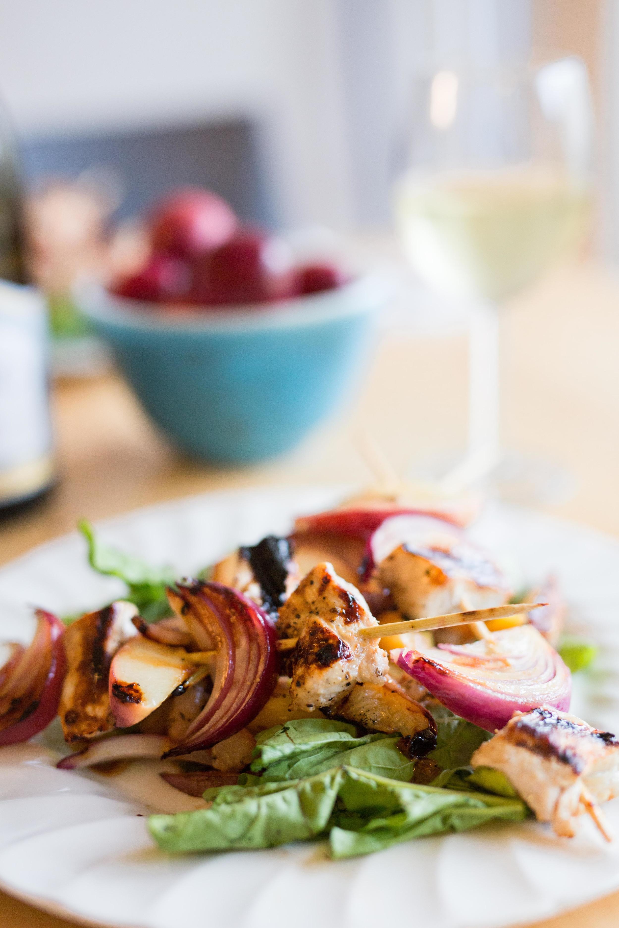 Favorite things: Maple glazed pork + peach kabobs with peach mostarda recipe
