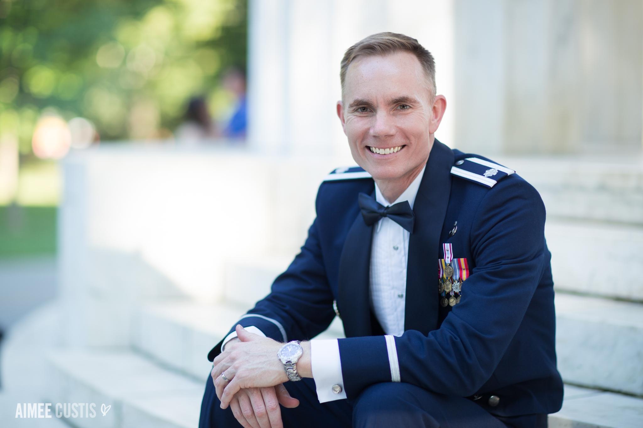 Washington DC military wedding photography