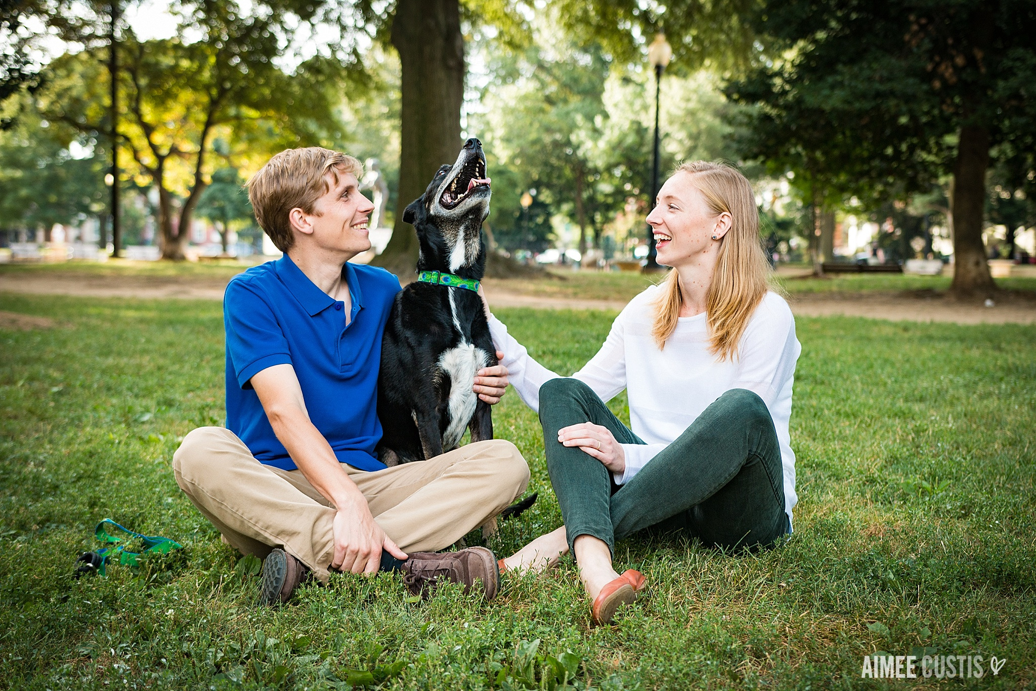 Lincoln Park Capitol Hill dog engagement photos