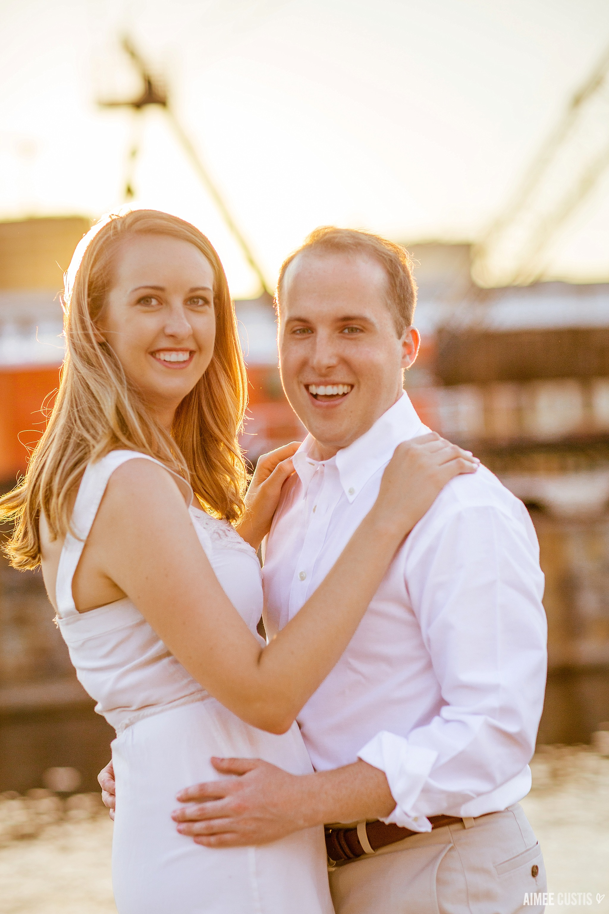 Fell's Point Baltimore engagement photos
