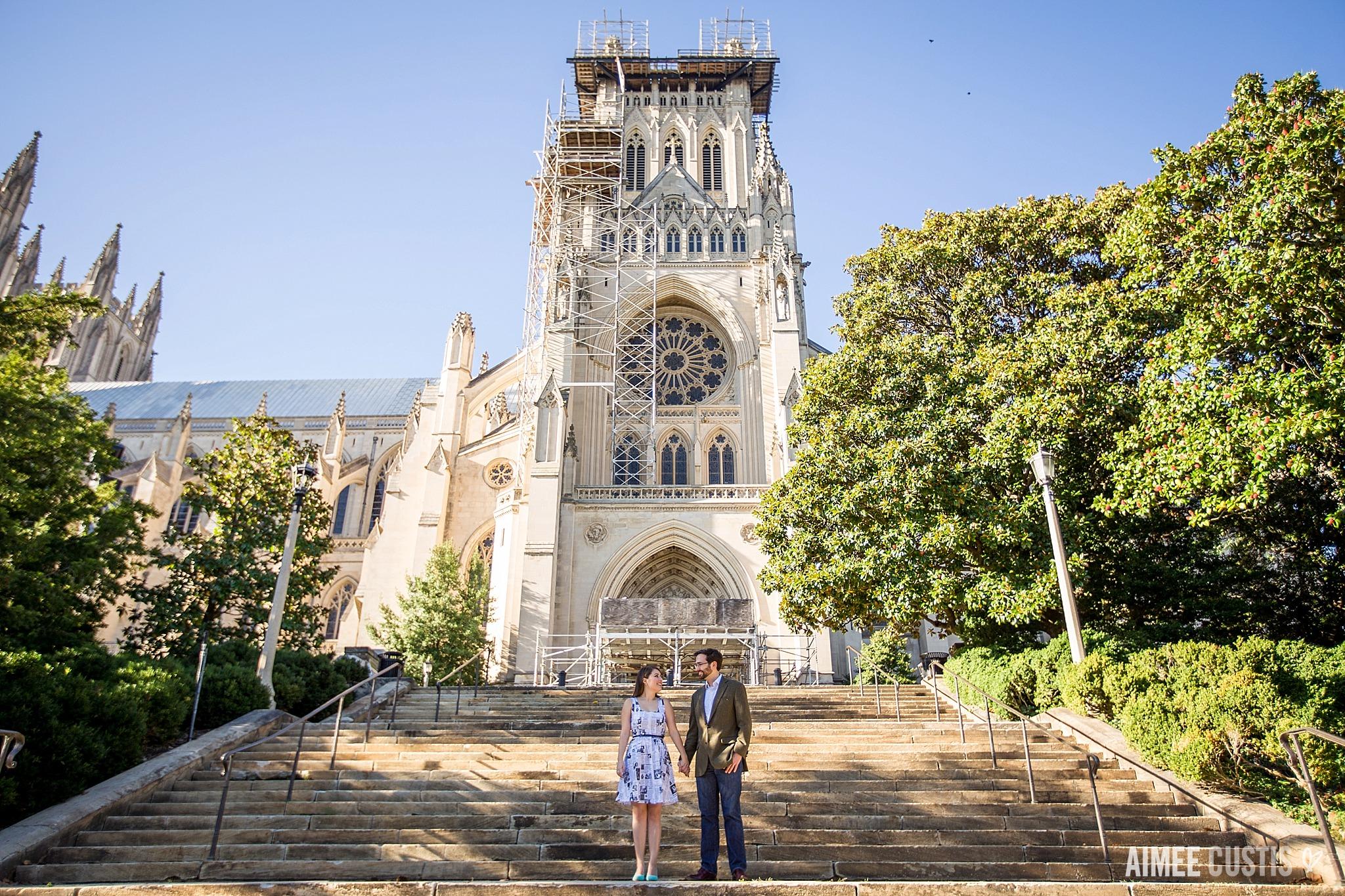 Washington National Cathedral engagement photos