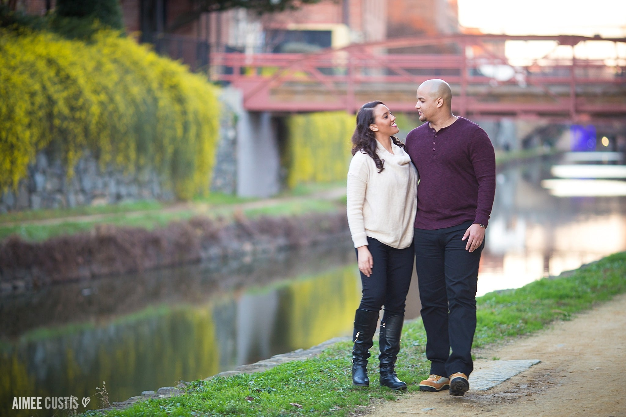 Georgetown C&O Canal engagement session