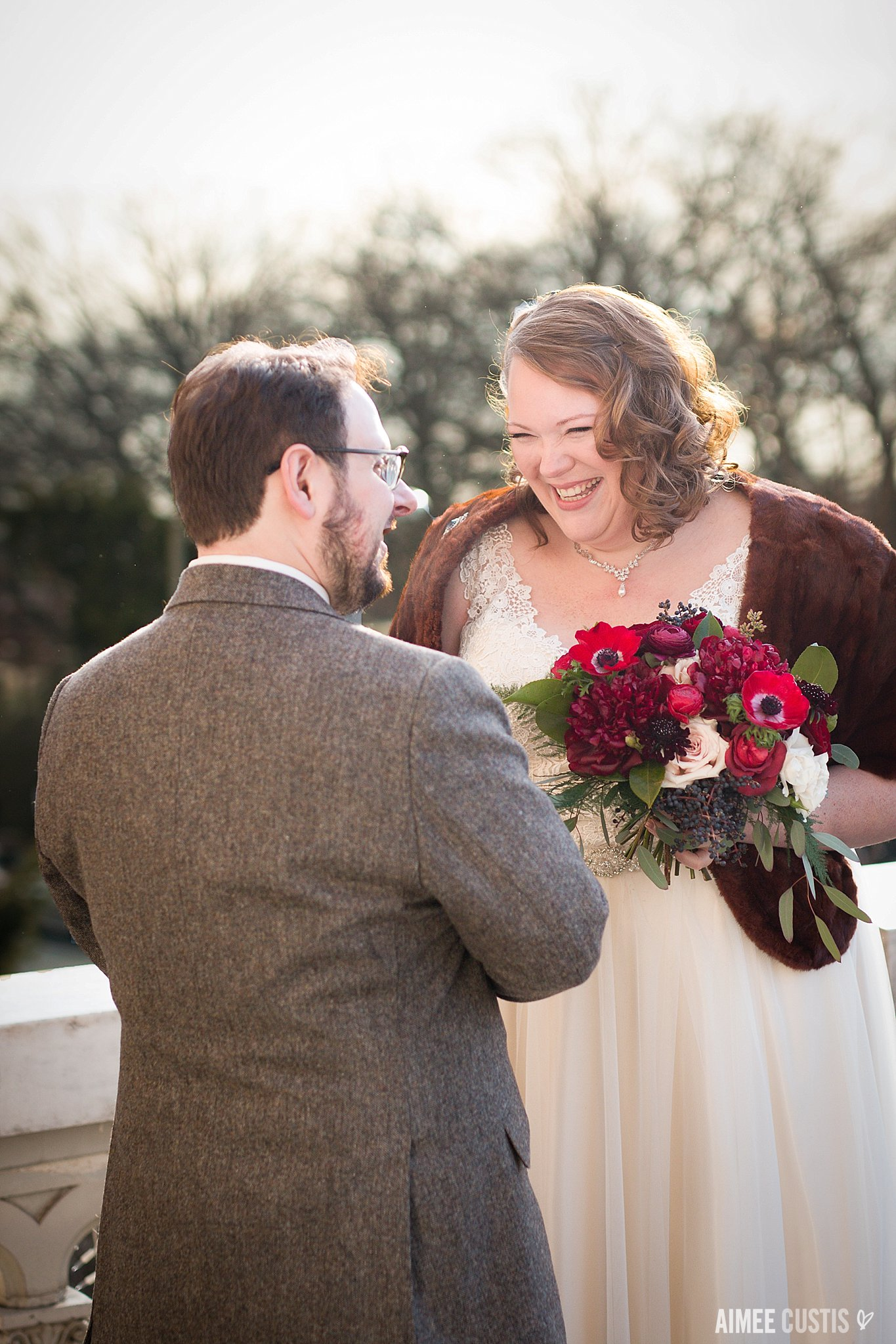 Romantic winter District of Columbia wedding at Josephine Butler Parks