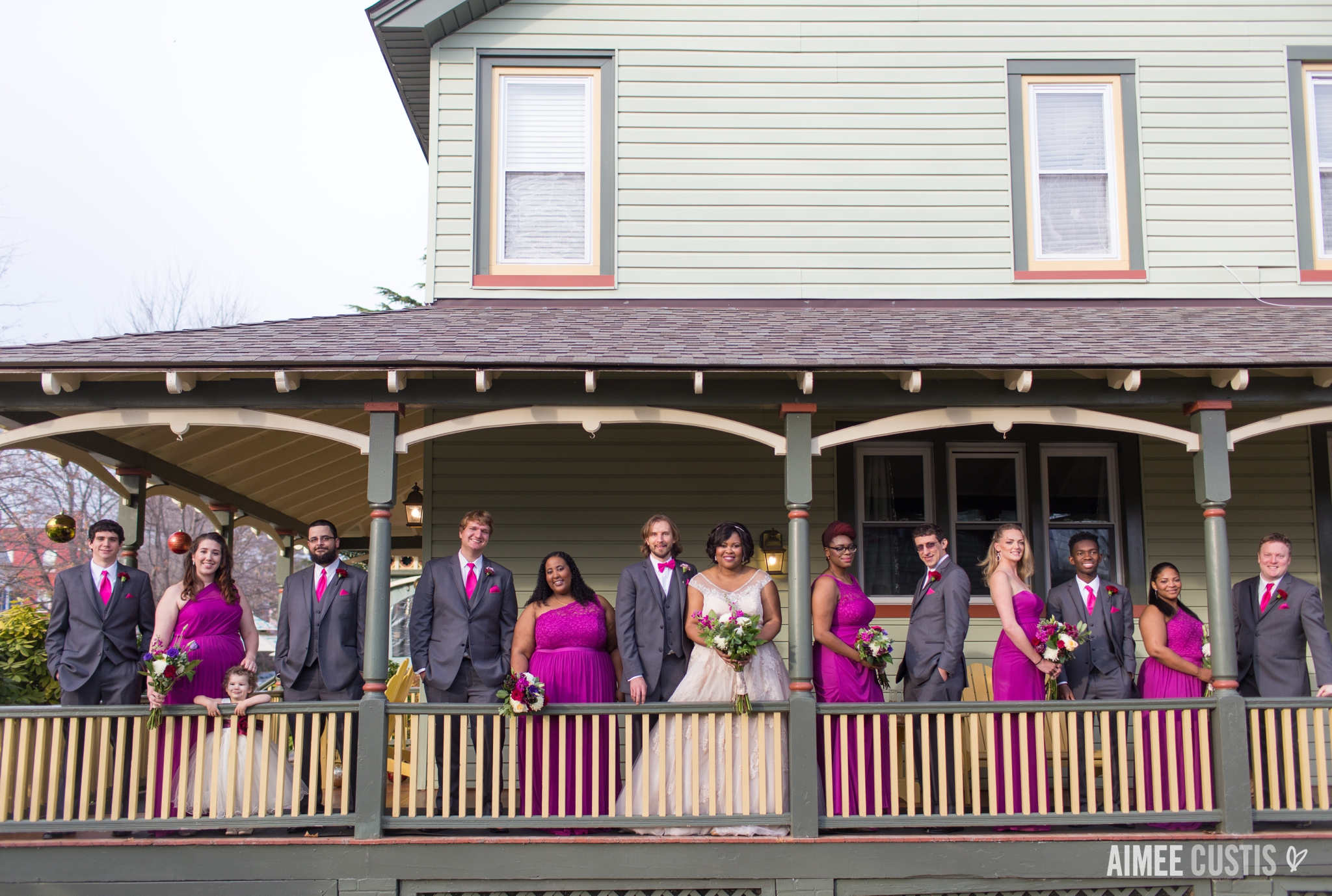 December Vandiver Inn wedding Havre de Grace