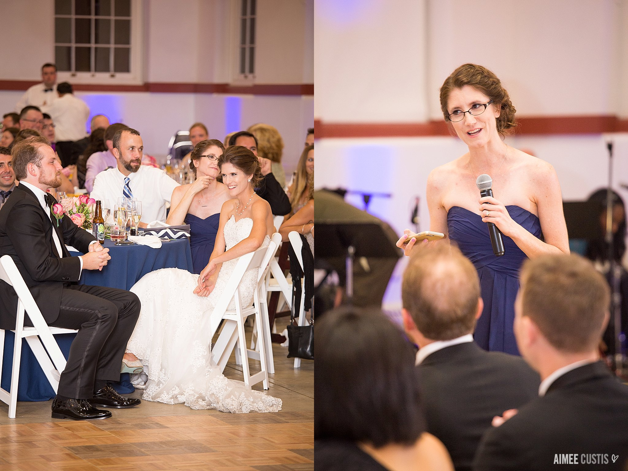 navy and pink Eastern Market DC wedding photography