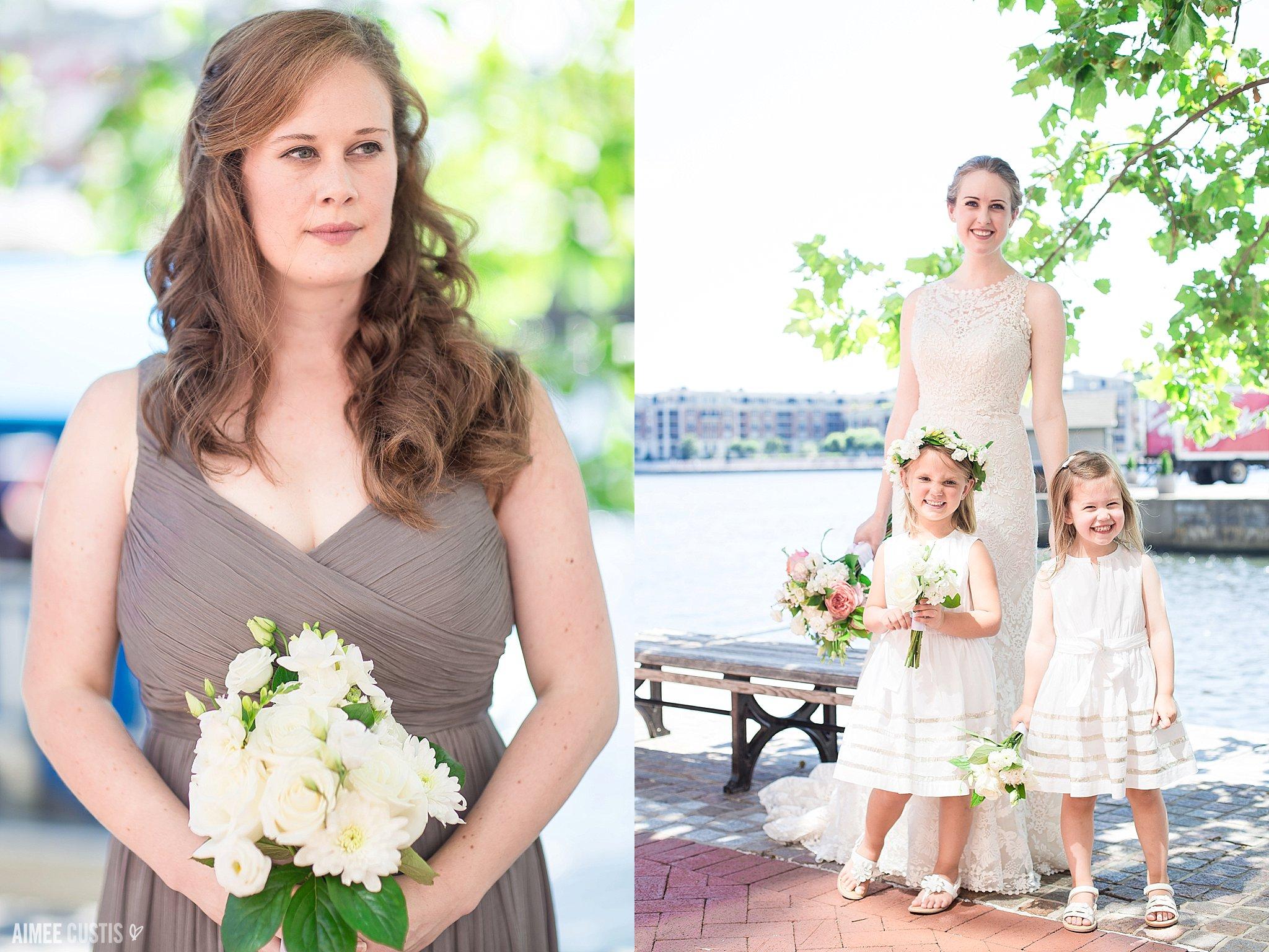 warm gray bridesmaids