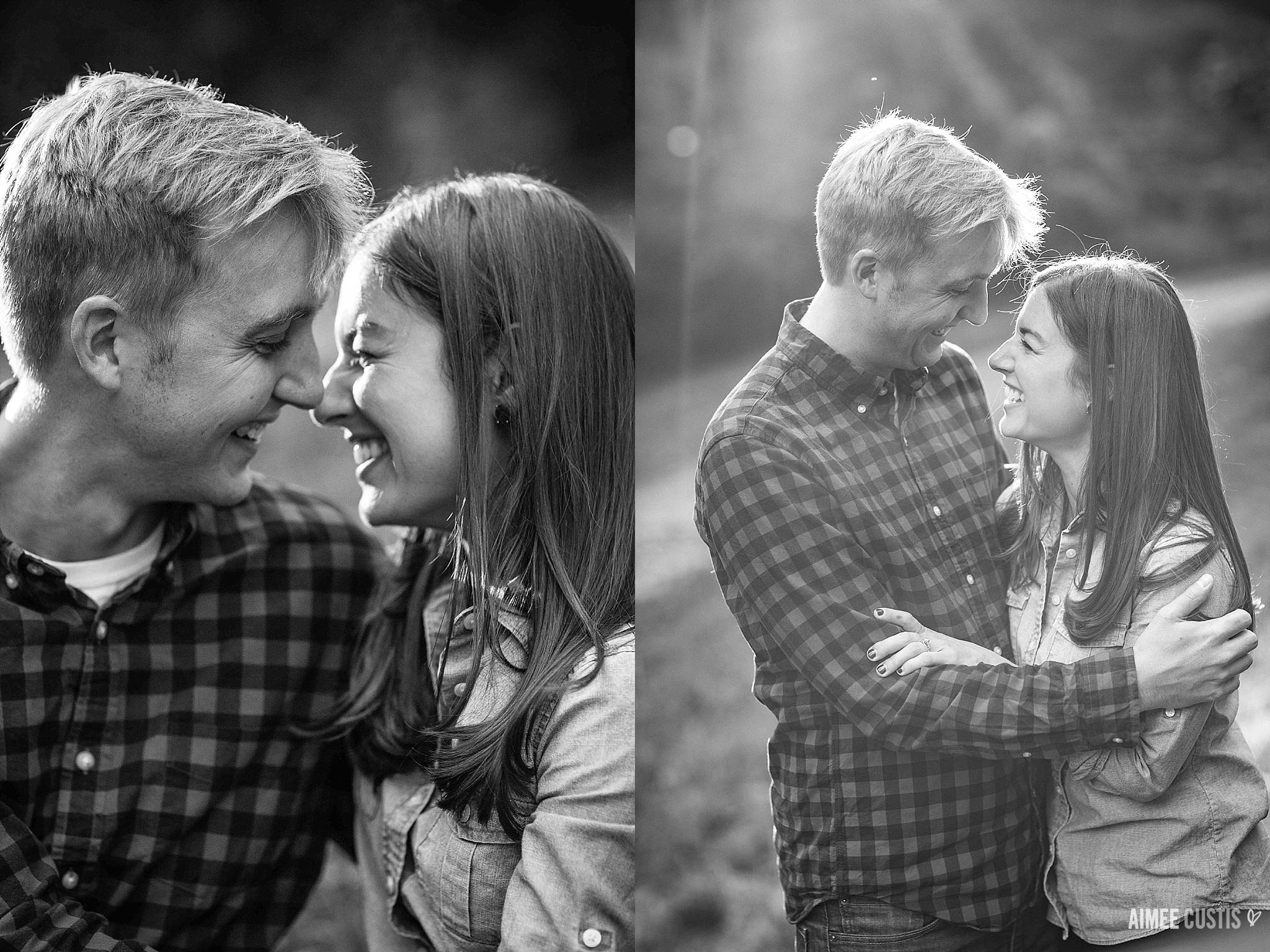 casual romantic park engagement photos DC